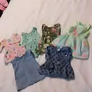 6 Super cute little sz. 18 month dresses